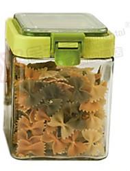 cheap -1pcs Kitchen Plastic Glass Bulk Food Storage