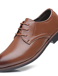 Men's Shoes Leatherette All Season Formal Shoes Oxfords Tie Dye Color Block For Wear to work Party & Evening Brown Black
