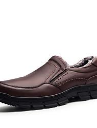 preiswerte -Herrn Schuhe Kunstleder Leder Winter Herbst Komfort Sneakers Walking für Normal Schwarz Dunkelbraun