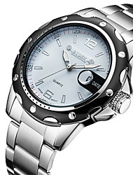 cheap -Men's Casual Watch Fashion Watch Wrist watch Japanese Quartz Calendar / date / day Casual Watch Stainless Steel Band Casual Elegant Silver