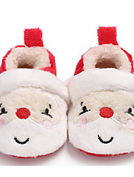 Baby Shoes Cotton Fall Winter Comfort First Walkers Flats For Casual Red White