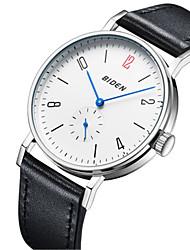 Недорогие -BIDEN Муж. Наручные часы Японский Повседневные часы Кожа Группа На каждый день / Мода / Элегантный стиль Черный / Коричневый