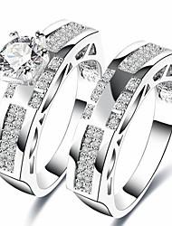 economico -Per uomo Per donna Anello a metà dito Zircone cubico Classico Regalo Dolce Di tendenza Elegant Zirconi Rame Gioielli Per Matrimonio Feste