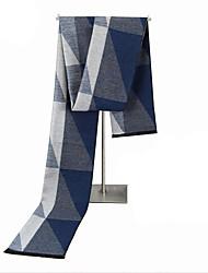 Недорогие -Для мужчин Прямоугольная,Осень Зима Хлопок С геометрическим рисунком