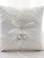 cheap -Satin Lace Ring Pillow Wedding All Seasons