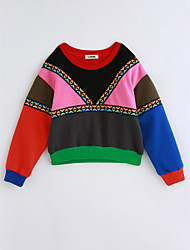 cheap -Girls' Rainbow Blouse, Cotton Winter Long Sleeves Rainbow