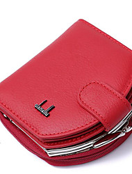 cheap -Women Bags PU Wallet Buttons Pockets for Casual All Season Black Red