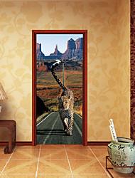 Landskab Dyr Vægklistermærker 3D mur klistermærker Animal Wall Stickers Dekorative Mur Klistermærker Dørklister, Papir Vinyl Hjem