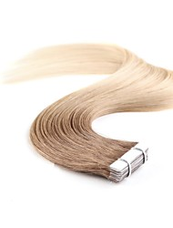 cheap -Tape In Human Hair Extensions 20Pcs/Pack 1.5g/pc Platinum Blonde Strawberry Blonde/Light Blonde Beige Blonde//Bleach Blonde Ash