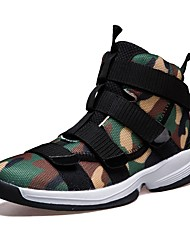 cheap -Men's Shoes PU Fall Winter Comfort Sneakers Track & Field Shoes For Athletic Outdoor Army Green Gray