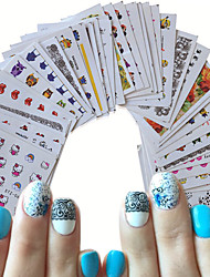 cheap -Decals Water Transfer Decals Water Transfer Sticker Nail Stamping Template Daily Fashion High Quality