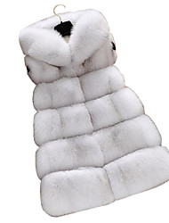 cheap -Sleeveless Faux Fur Wedding Party / Evening Women's Wrap With Cap Vests