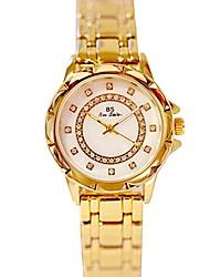 baratos -Mulheres Relógio de Pulso Japanês Relógio Casual Aço Inoxidável Banda Amuleto Prata / Dourada / Ouro Rose