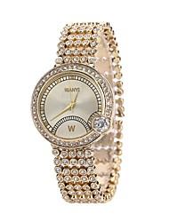 abordables -Femme Quartz Montre Bracelet Montre Habillée Montre Tendance Chinois Imitation de diamant Alliage Bande Luxe Décontracté Doré