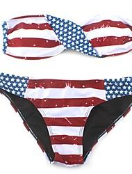 abordables -Mujer Bikini 3D (patrón aleatorio)