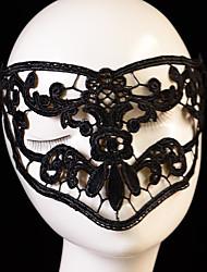 cheap -Halloween Mask Halloween Prop Halloween Accessory Masquerade Mask Sexy Lace Mask Headgear Garden Theme Novelty Holiday Fairytale Theme