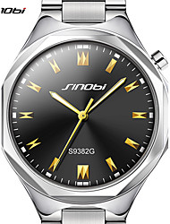 cheap -SINOBI Men's Wrist Watch Japanese Water Resistant / Water Proof / Large Dial Aluminium Alloy Band Luxury / Casual / Minimalist Silver / Sony S626 / Two Years