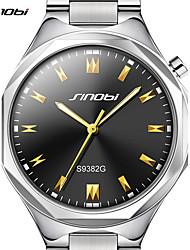 baratos -SINOBI Homens Relógio de Pulso Japanês Impermeável / Mostrador Grande Liga de Alúminio Banda Luxo / Casual / Minimalista Prata / Sony S626 / Dois anos