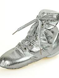 economico -Da donna Jazz Finta pelle Sneaker Suola integrale Professionale Piatto Oro Argento