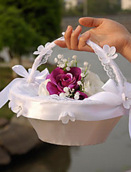 "cheap -Flower Basket Satin Lace 8 3/5"" (22 cm) 1 Wedding Ceremony Beautiful"