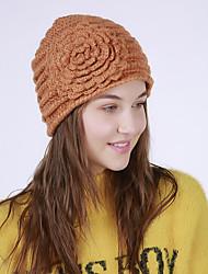 cheap -Women's Acrylic Floppy Hat,Vintage Cute Casual Flower Winter Flower Blue Orange Beige Yellow
