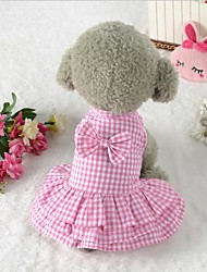 cheap -Dog Clothes Party Casual/Daily Wedding Christmas Halloween Blue Pink Costume For Pets