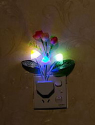 Home room decoration LED lights 7 colours changable rose mashroom mini light lamp for gifts