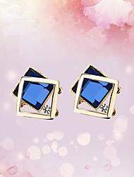 cheap -Women's Stud Earrings Hoop Earrings Crystal Rhinestone Classic Lovely Fashion Hypoallergenic Korean Crystal Alloy Geometric Jewelry For