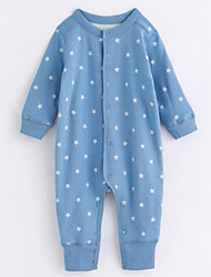 cheap -Baby Stars One-Pieces,Cotton Fall/Autumn Long Sleeves Blue