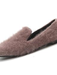 Women's Shoes PU Winter Comfort Flats For Sports & Outdoor Khaki Gray Black