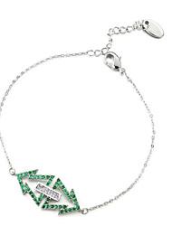 abordables -Femme Zircon Zircon Plaqué argent Arbre de la vie Chaînes & Bracelets - Classique Basique Argent Bracelet Pour Noël Cadeau