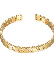 cheap -Women's Music Notes Cuff Bracelet - Fashion Gold Bracelet For Wedding Daily