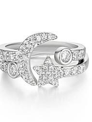 preiswerte -Damen Statement-Ring Bandring Silber Zirkon Kupfer versilbert Einfach Freizeit Grundlegend Geschenk Alltag Modeschmuck