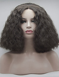 cheap -Women Synthetic Wig Lace Front Short Medium Brown Natural Wigs Costume Wig