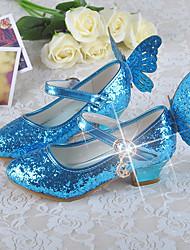 baratos -Para Meninas Sapatos Couro Ecológico Primavera Salto minúsculos para Adolescentes / Sapatos para Daminhas de Honra Saltos para Casual