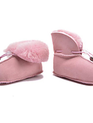 Baby Shoes Fur Fall Winter Comfort First Walkers Boots For Casual Pink Coffee Fuchsia Purple Silver