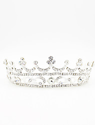 abordables -Brillante metal Tiaras with Pedrería Purpurina Ondulado 1pc Celada