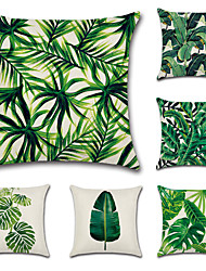 cheap -6 pcs Cotton / Linen Pillow Cover / Pillow Case, Botanical / Novelty / Classic Classical / Retro / Traditional / Classic