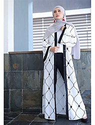 cheap -Women's Party Daily Wear Casual Kaftan Maxi Dress,Geometric Color Block Check Pattern Knitting Round Neck Long Sleeve High Waist