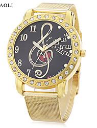 abordables -JUBAOLI Mujer Cuarzo Reloj de Pulsera Chino Gran venta Aleación Banda Encanto Reloj creativo único Dorado