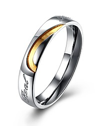 cheap -Men's Couple Rings - Gold Plated Fashion 6 / 7 / 8 White For Gift
