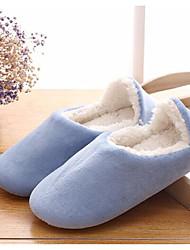 Women's Shoes Cotton Rubber Winter Comfort Slippers & Flip-Flops For Casual Blue Navy Blue Peach Purple Dark Blue