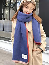 Для женщин Прямоугольная,Осень Зима Вязаная одежда Контрастных цветов
