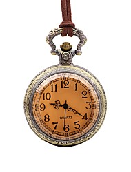 cheap -Men's Pocket Watch Chinese Punk Leather Band Vintage / Casual Brown