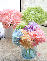 cheap -10 Branch Others Real touch Hydrangeas Tabletop Flower Artificial Flowers