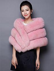 cheap -Sleeveless Faux Fur Organic Cotton Wedding Party / Evening Women's Wrap Ponchos