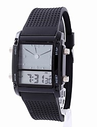 cheap -Women's Digital Watch Chinese Chronograph / Noctilucent / LCD Rubber Band Casual / Elegant / Fashion Black / White