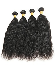 cheap -Peruvian Hair Natural Wave Remy Human Hair Natural Color Hair Weaves 4 Bundles Human Hair Weaves Natural Black Human Hair Extensions