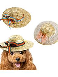 baratos -Gato Cachorro Bandanas & Chapéus Roupas para Cães Laço Verde Rosa claro Arco-Íris Outros Material Ocasiões Especiais Para animais de