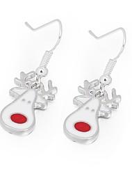 Femme Boucles d'oreille goutte Animaux Doux Adorable Alliage Bijoux Pour Noël